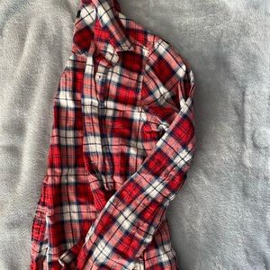 JCrew Red and Blue Plaid Button Up